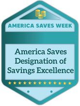 America Saves Designation of Savings Excellence badge