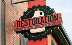 Restoration Brew Worx Sign