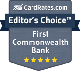 CardRates.com Editor's Choice Award - First Commonwealth Bank