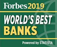 Forbes 2019 World Best Bank logo for footer