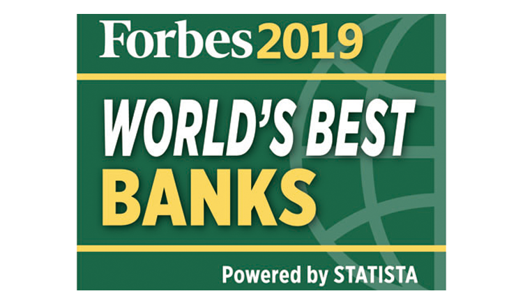 Forbes 2019 World's Best Banks Logo