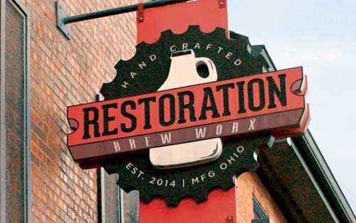 Image of Restoration Brew Worx sign