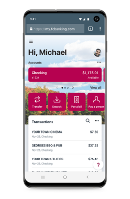 Mobile Banking Application: Online Banking App | First Commonwealth Bank
