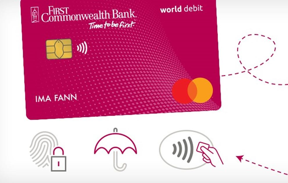Berry Debit Card with Security Icons